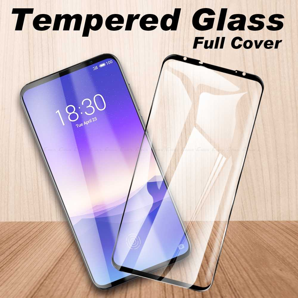 Pelindung Pelindung untuk Meizu 16 S Pro 16Xs 16 X 16th 15 Plus Lite Tempered Glass Full Cover kaca Film