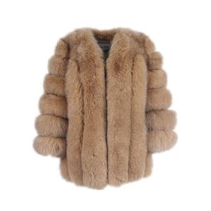 Image 5 - สีชมพูJava QC8128ผู้หญิงใหม่มาถึงฤดูหนาวเสื้อผ้าจริงFoxขนสัตว์ขนสุนัขจิ้งจอกธรรมชาติเสื้อขายร้อนBig Furแขนยาว