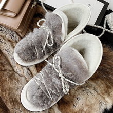 Bottes Sweet-Style Ankle-Boots Fluffy-Shoes Girls Winter Women Wool Chaussure Comfortable