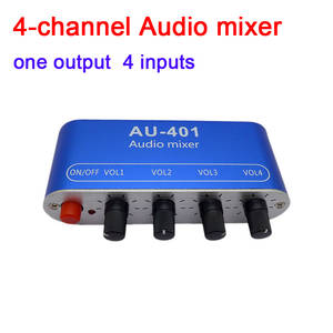 Moukey Headphone Amp Amplifier 4 Channels Metal Stereo Audio Amplifier,Mini Earphone Splitter with Power Adapter-4x Quarter Inch Balanced TRS Headphones Output and TRS Audio Input For Sound Mixer DC 5
