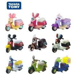Takara tomica tomica mini motocicleta dos desenhos animados diecast liga de metal fundido veículos playset modelo de carro para crianças presente