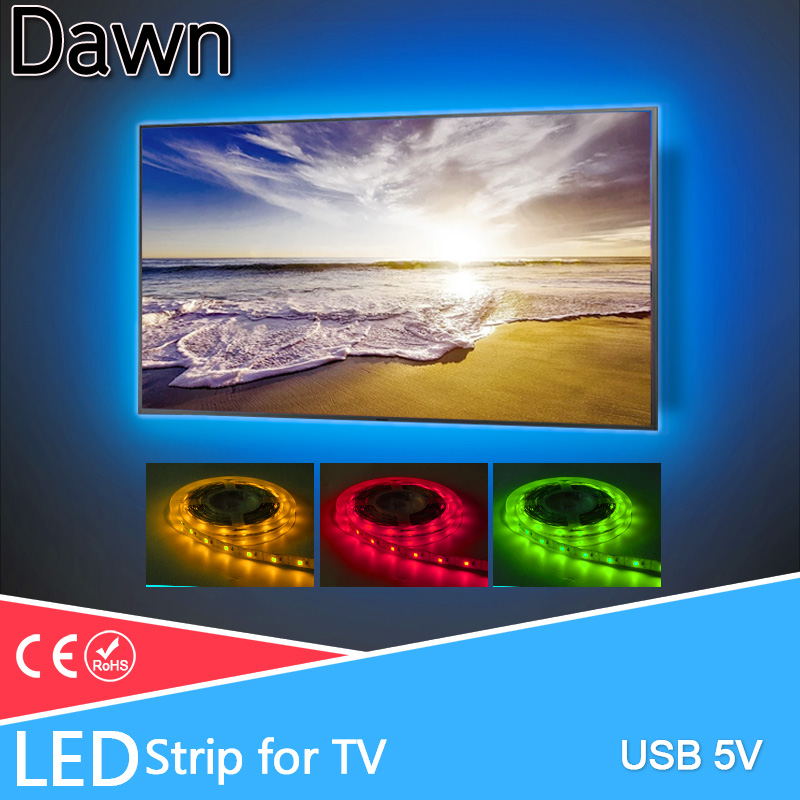 LED Strip LED Light Lamp USB DC 5V 50CM 1M 2M 3M 4M 5M Mini 3Key 24Key Lamp SMD 2835 Desk Decor Screen TV Background Lighting