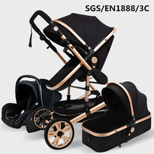 Luxurious Baby Stroller 3 in 1 Genuine Portable Baby Carriag