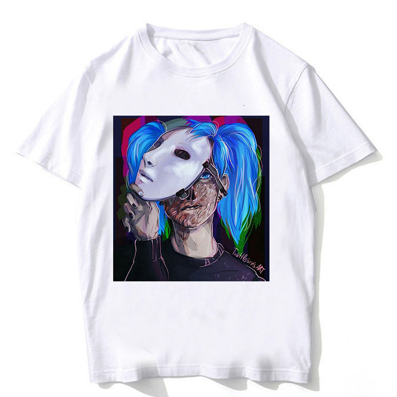 one yona Sally Face T Shirt Streetwear Male Harajuku Fashion Sally Face Top Funny for Clothing Men Tee Tshirt Camisetas Hombre image