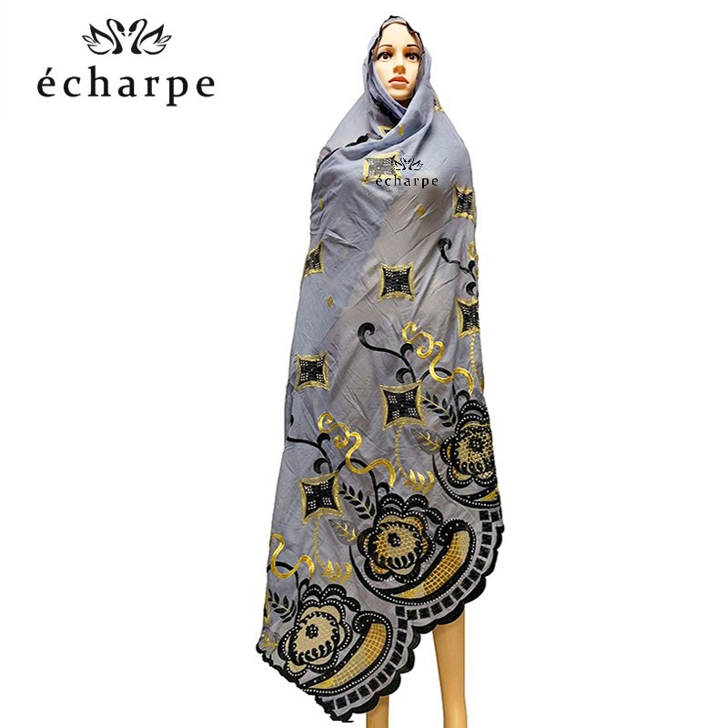 High Quality 2019 New Muslim Hijab Scarf Fashion Soft Outdoor Protection Turban African Women's Scarves EC161