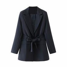 Осенняя Женская куртка средней длины маленький костюм высококачественный