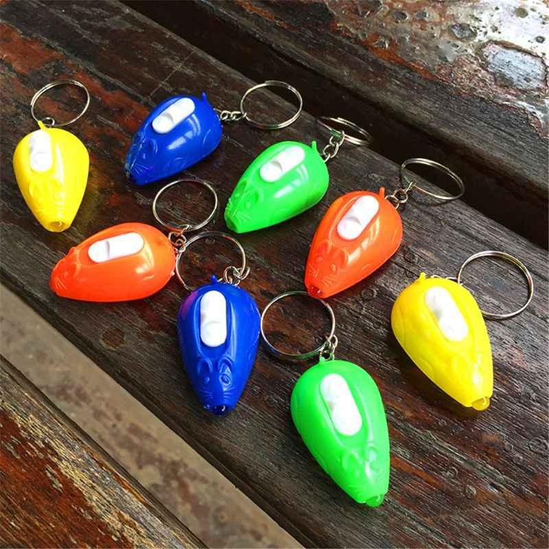 ماوس صغير مصباح ليد متابعة اللعب المفاتيح حفلة Favors الاطفال لعبة هدية الأدوات حقيبة قلادة Q6PD