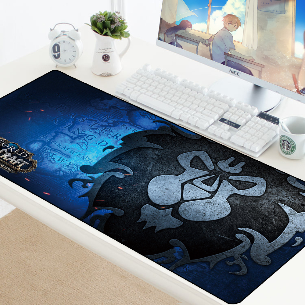 World Of Warcraft Gaming Mouse Pad Computer Gamer Mousepad Horde Large Rubber No-slip Desk Big Mouse Mat Mause Pad For PC Laptop