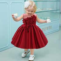Invierno Navidad bebé vestido de cumpleaños para 1 año de bautismo de bebé niña Vestidos de fiesta vestido de princesa de boda Vestidos 12M 24M