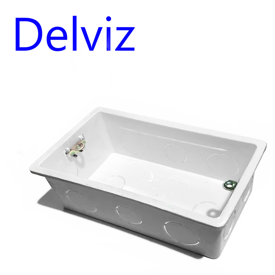 Delviz Wall Switch BOX Wall Socket Cassette,146mm Plastic Materials, For Wall Light Switch EU Standard Internal Mount socket box(China)