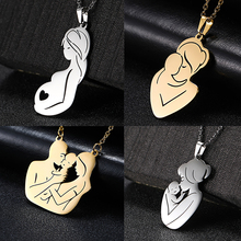 Family Baby Pregnant Necklace Heart For Wife Mother Father day Women Man Gift Love Gold