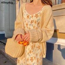 Платье женское ТРАПЕЦИЕВИДНОЕ с цветочным принтом, элегантный простой приталенный Сарафан до середины икры, пикантная ретро-одежда в стиле...