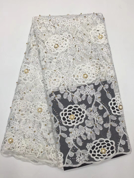 New Designs African French Lace Fabric High Quality Nigeria african French Net Lace 2019 With Stone and Beaded For Women DJ22701