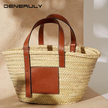 New Beach Straw Bag Famous Brand Women Rattan Bag