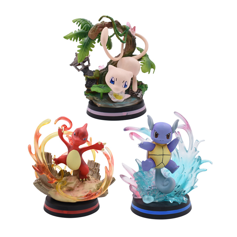 2020 New Anime Wartortle Mew Mewtwo Charmeleon PVC Action Figure Doll Collection Model Toy
