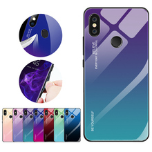 10pcs Gradient Tempered Glass Phone Case Back Cover For Xiaomi CC9 Redmi K20 note7 pro