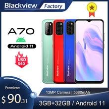 Blackview A70 Smartphone 3GB + 32GB Octa Core Android 11 Handy 13MP Hinten Kamera 6.517 ''Waterdrop 5380mAh 4G LTE Handy