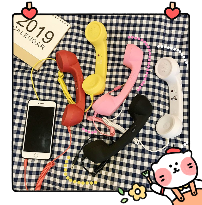 Lovely Colorful Vintage Phone Headset Mobile Phone/Telephone Receiver Can Adjust Volume Answer The Phone 3C Toy