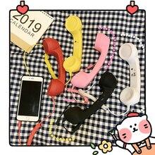 Auriculares coloridos Vintage para teléfono móvil/receptor de teléfono puede ajustar el volumen contestar el teléfono 3C de juguete