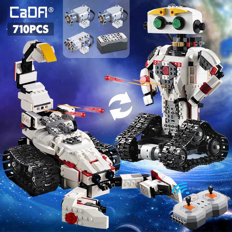 Cada 710CPCS RC Transformation Robot Creative MOC 2 IN 1 Model Building Blocks Legoingly Technic Series Bricks Toys For Kids