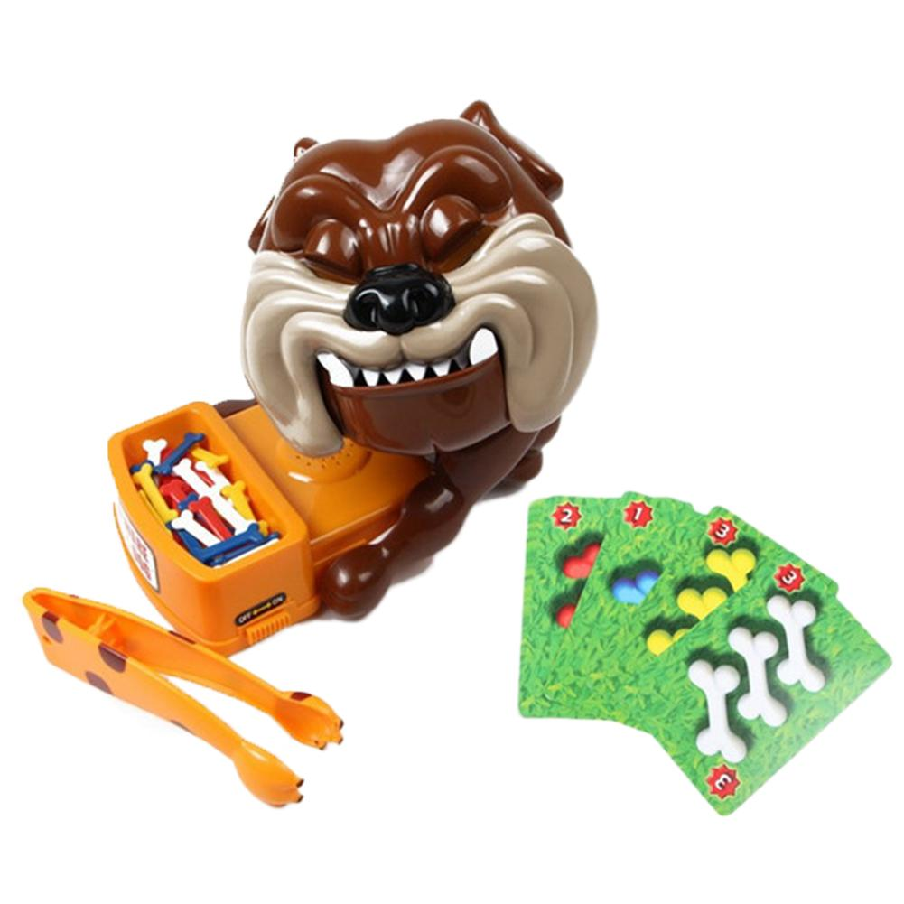 Cartoon Dog Design Funny Plastic Rob Bone Electric Toy Dog Table Board Game Kids Child Gift For Children Birthday Gift Party Toy