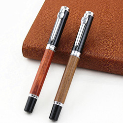 Jinhao 8802 Roller Ball Pen Wood Barrel Vintage Style International standard, Wood color