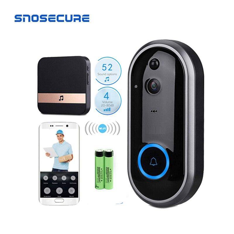 SNOSECURE Video Doorbell Monitor Intercom 720P Security Camera Door Phone Two-Way Audio Night Vision Wireless Intercom Doorbell