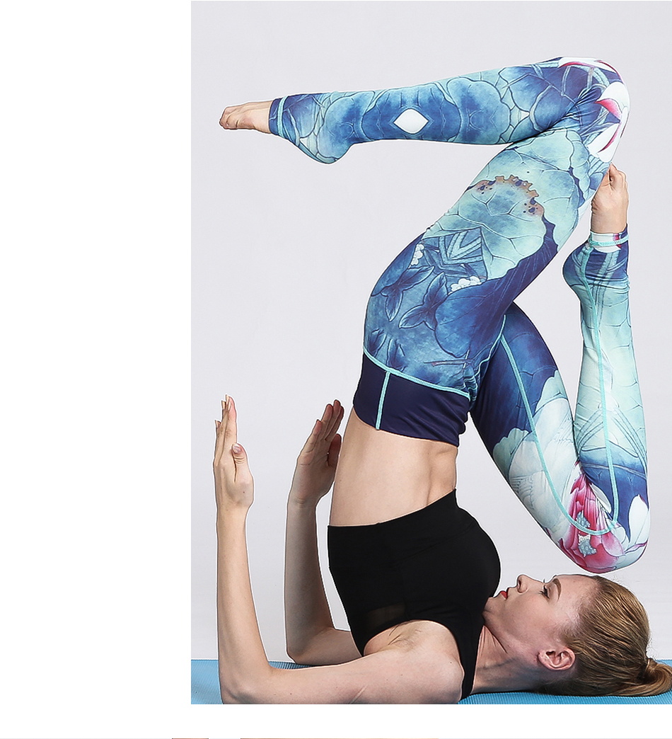 Floral gym leggings with awesome printed pattern