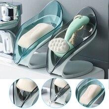 Box Bathroom Plate-Tray Soap-Holder Dish-Storage Drain Shower Leaf-Shape