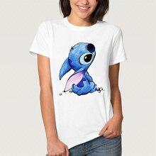 Stitch T Shirt Cute Girl Harajuku Cartoon Tops Funny Anime Tshirt Vogue White Casual Short Sleeve Printed Top Tees Dreamy