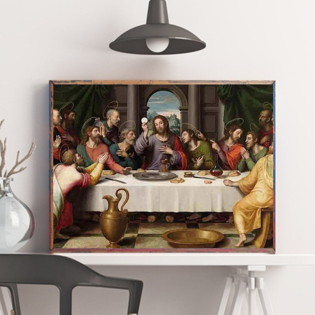 HUACAN Diamond Painting The Last Dinner Portrait Religion Jesus Cross Stitch Kit Home Decoration Full Square