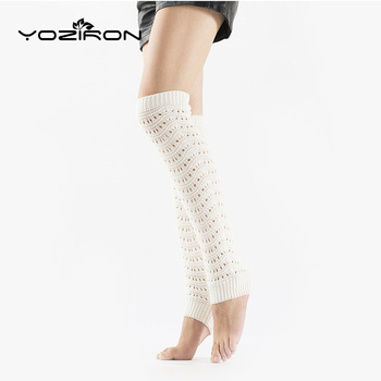 YOZIRON hueco de punto blanco calentadores de pierna mujeres invierno niñas escuela uniforme calcetines Casual otoño mujer polainas calentador de piernas
