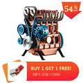 All-Metal Car Mini Assemble Inline Four-Cylinder Car Engine Model Toys Model Kits Puzzle Toys For Adult Splicing Hobby Building