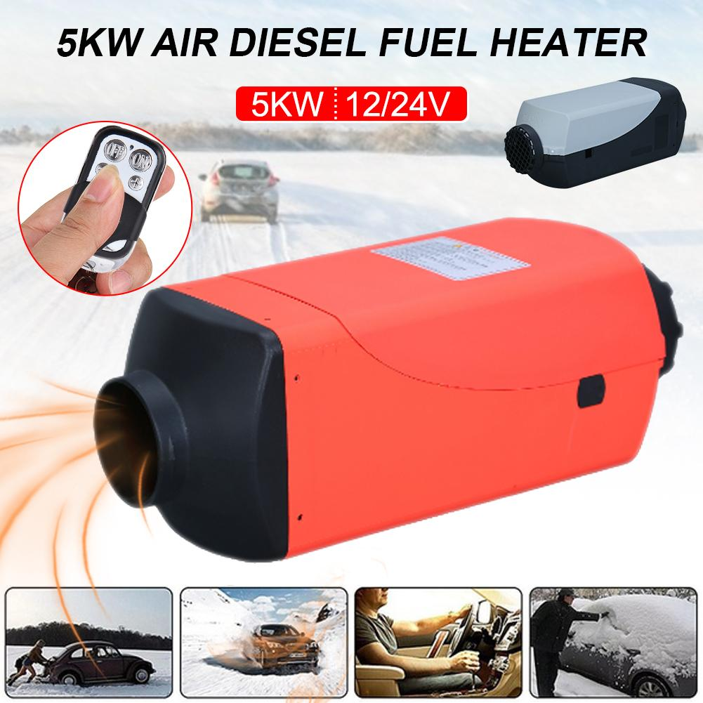 5KW 12V24V Auxiliary Heater Parking Air Fuel Oil Heating Machine With LCD Monitor Air Diesels Fuel Heater Single Hole For Trucks