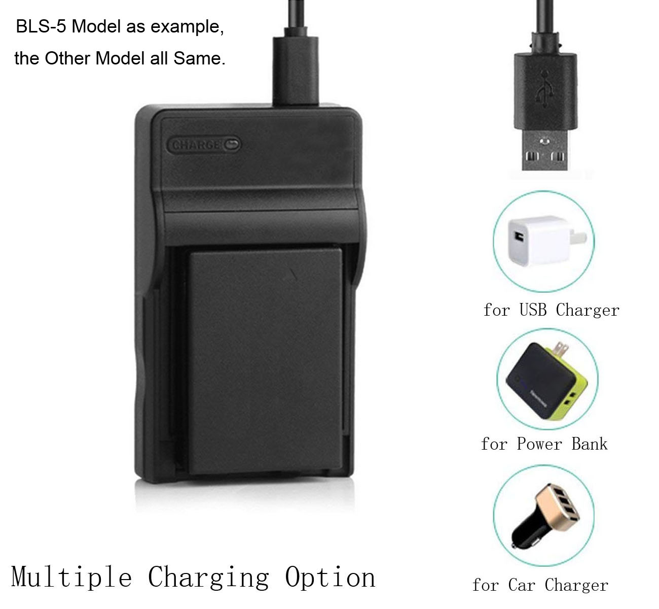 USB Battery Charger for Canon LEGRIA HF M52 M56 M60 M506 HD Camcorder