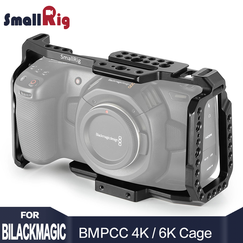 SmallRig bmpcc 4k Cage DSLR caméra Blackmagic poche 4 k/6 K caméra pour Blackmagic poche cinéma caméra 4 K/6 K BMPCC 4K 2203