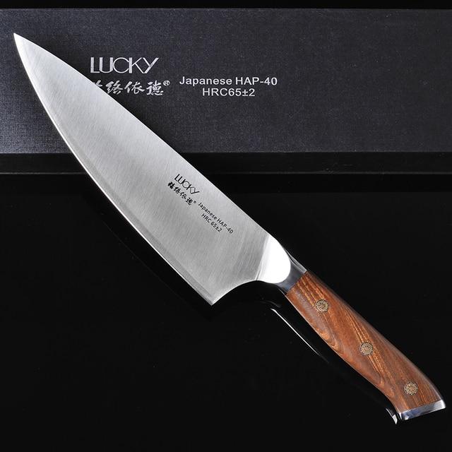 24Cm Chef Keukenmes Japanse HAP40 Staal Hoge Carbon Super Sharp Vlees Visfilet Snijden Hakken Koken Gyuto Messen 28