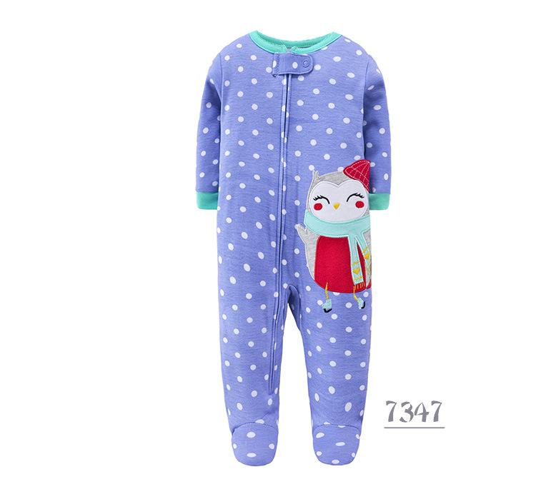 Christmas Newborn Baby Clothes Spring New year Cartoon Long Sleeve Toddler Costume Organic Cotton Jumpsuits 0-12M baby Romper | Happy Baby Mama