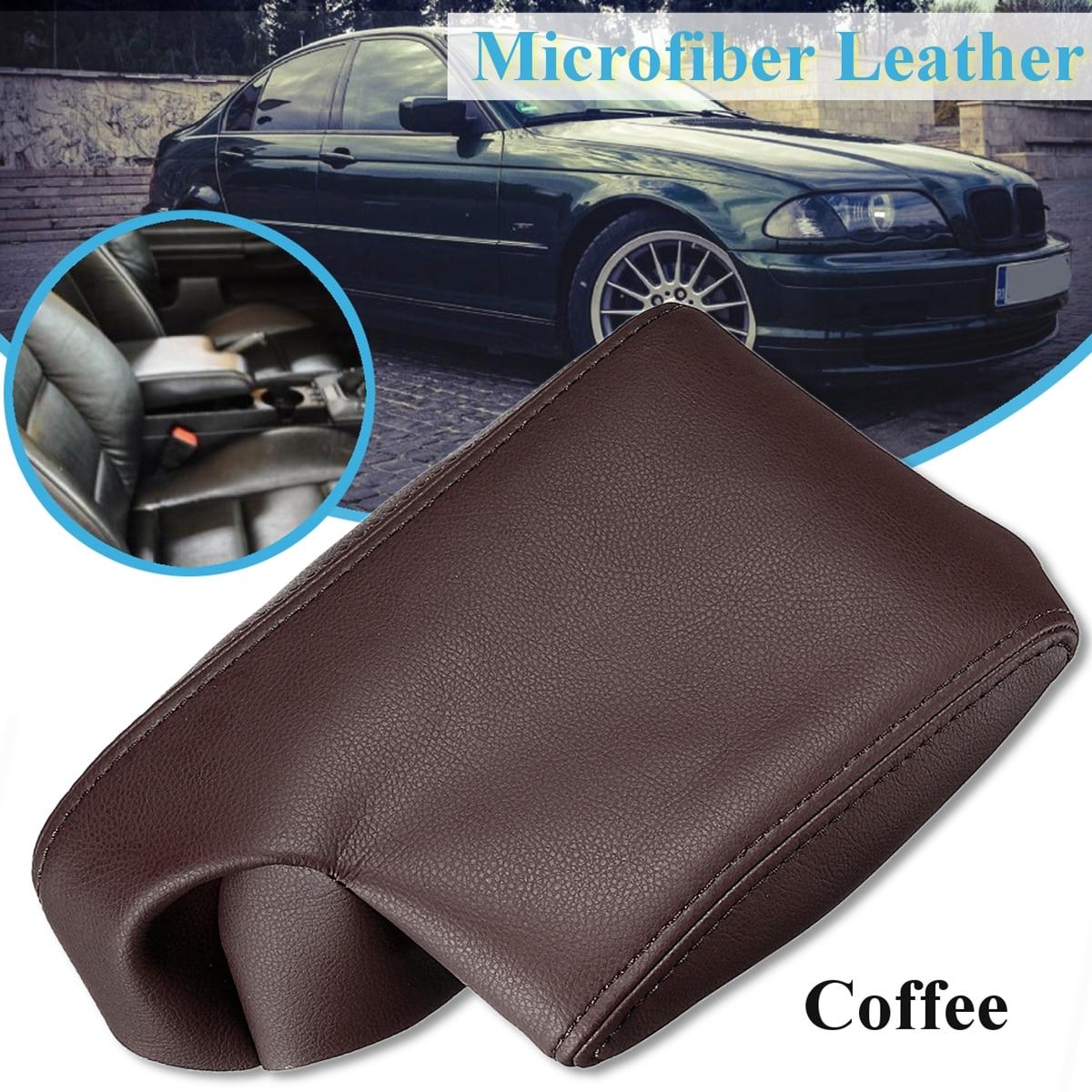 Кожаная крышка подлокотника для центральной консоли, чехол из микрофибры для кожаных сидений для BMW E36 318i 320i 323i 235i 1991 1991-2009, 4 цвета