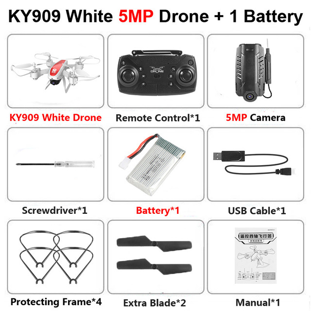 KY909 RC WiFi Дрон с 4K широкоугольной WiFi HD камерой оптический поток RC складной мини Квадрокоптер Вертолет VS LF606 E58 M69 F11 - Цвет: Black 500W Camera