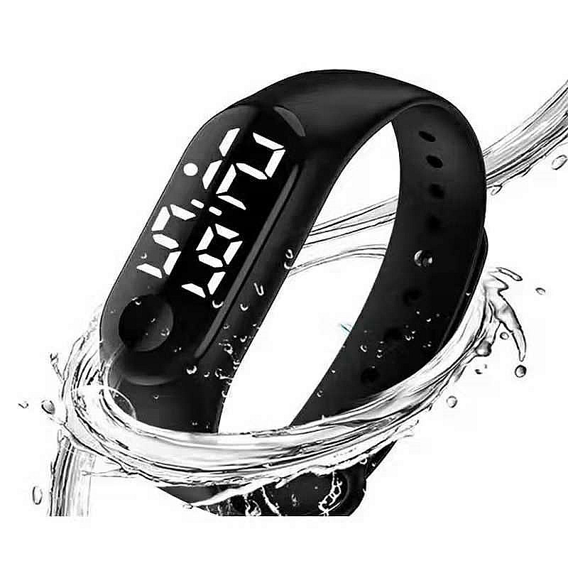 School Student Digital Clock Led Luminous Number Date Watch Sports Children Kids Wristband Wrist Watches Calendar Hours Sport