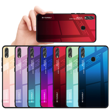 Aurora Tempered Glass Case For Huawei Honor 8X 20 Pro 10 9 Lite View Y9 2019 Nova 3 3i 4 Soft Edge Hard Color Back Cover