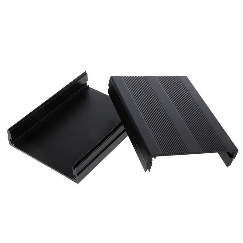 Black 100x76x35mm Corrosion Resistant Aluminum  Split Body Aluminum Box Enclosure Case Project Electronic DIY Whosale&Dropship