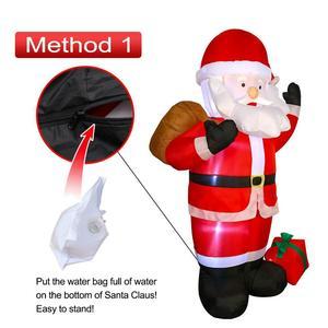 Image 4 - 1.8M LED nadmuchiwany św. Mikołaj bałwanek mikołaj z dmuchawą ogród układ na zewnątrz dekoracje świąteczne rysunek klasyczne zabawki dla dzieci