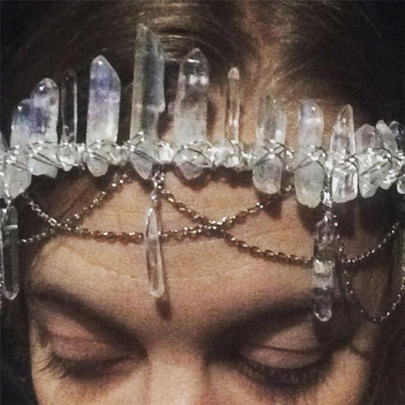 Free Shipping Fashion Women Halloween Handmade Headband Girl's Gothic Rhinestone Pendant Hairband Lady's Party Hair Accessories