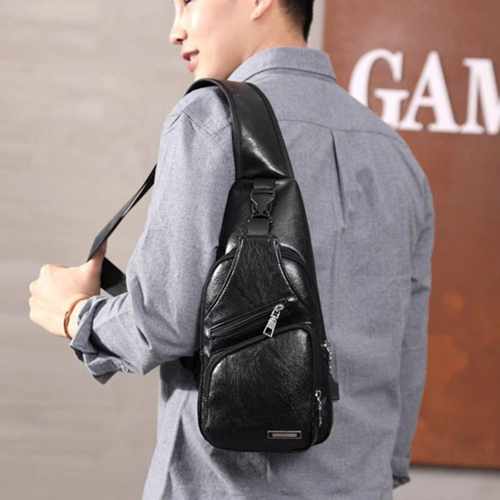 1PC Chest Bag Casual Functional Men Waist Money Phone Sports Charge Bag 2021 Bag Chest Belt Pack Usb Outdoor Belt P0I1