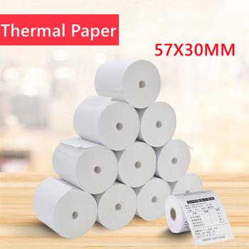 57*30mm papier do druku termicznego 10 metrów papier fotograficzny do drukarek atramentowych papier do drukarki Paperang Peripage akcesoria do drukarek tanie i dobre opinie CN (pochodzenie) Rolka tissue