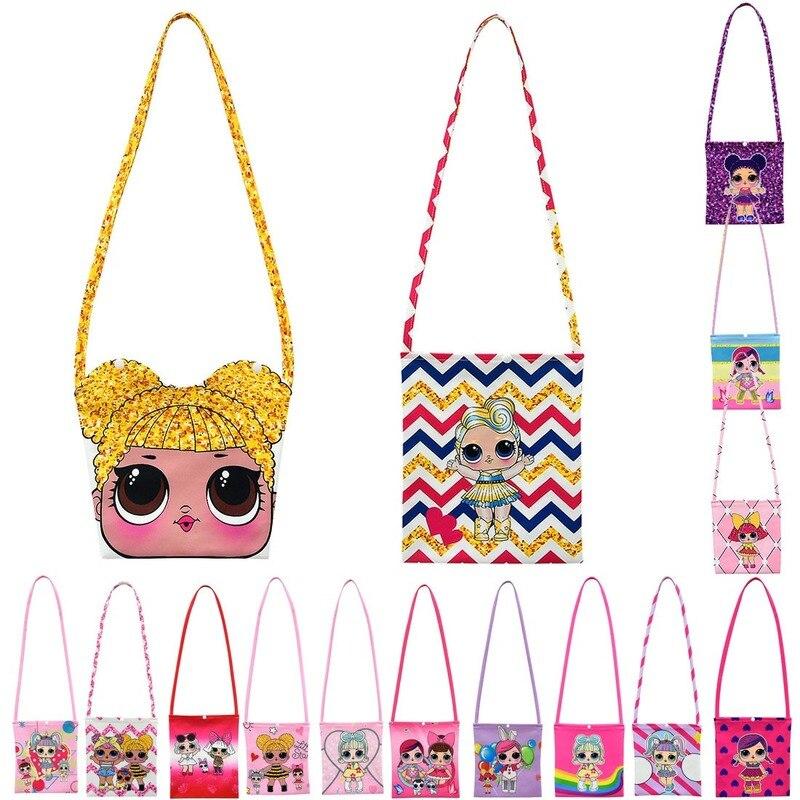 L.O.L. SURPRESA! Moda Messenger Bags para as mulheres de Punk Estilo lol boneca Crianças Saco de Ombro Saco Crossbody para a Menina Crianças Saco