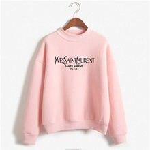 Napis Hot drukowanie moda damska z długimi rękawami pulower w stylu Harajuku wokół szyi odzież sportowa ulicy casualowy luźny top damski sweter