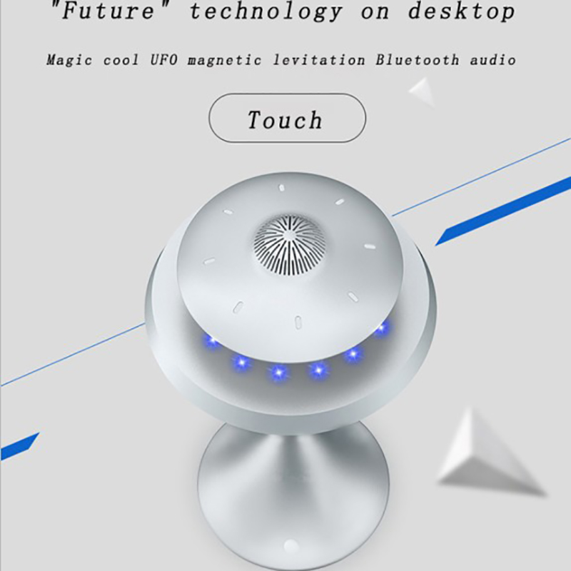 Смарт Bluetooth колонки бас стерео Магнитная подвеска НЛО Стиль Дизайн семь цветов светодиодный водонепроницаемый беспроводной зарядки